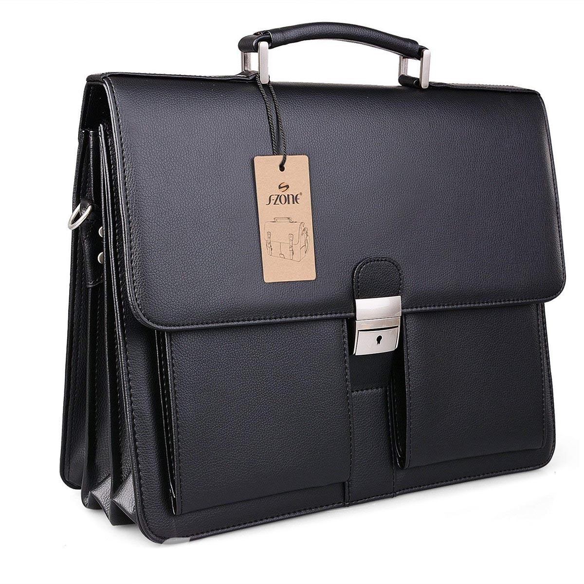 Ericdress PU Lock Men's Business Bag