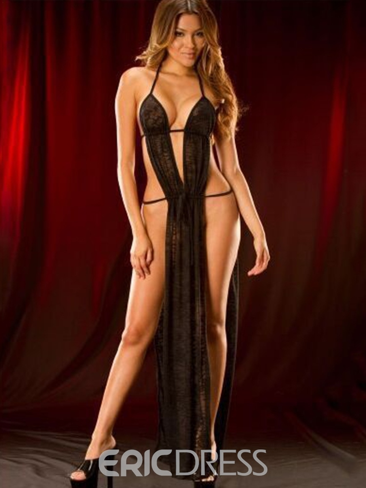Ericdress Halter Ankle-Length Slit Up Sexy Babydoll