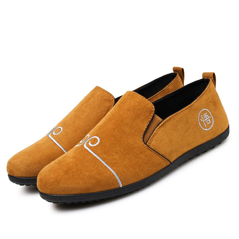 Ericdress Embroidery Retro Slip-On Men's Loafers