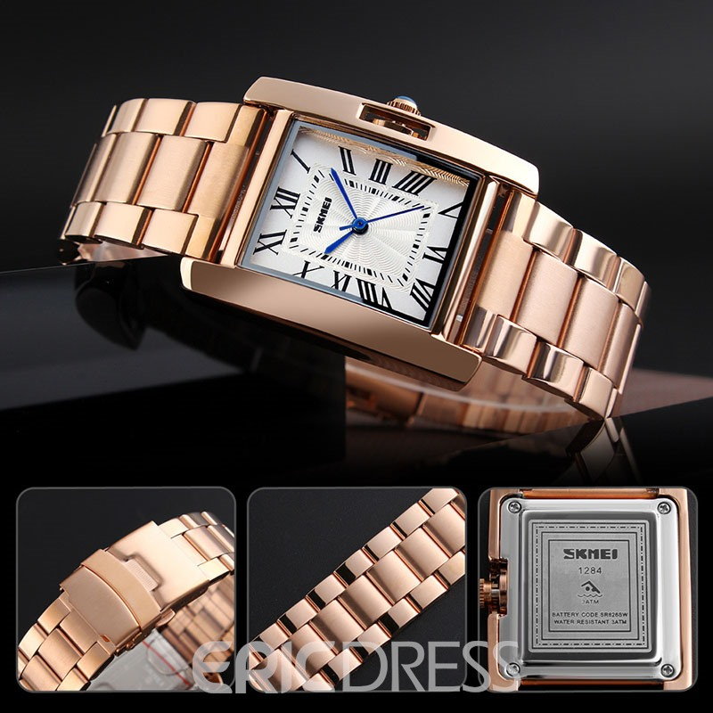 Ericdress Square OL Steel Band Watch For Women
