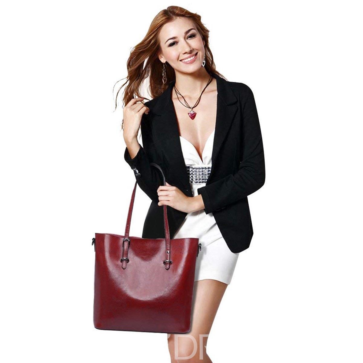 Ericdress Retro Casual PU Soft Shoulder Bag