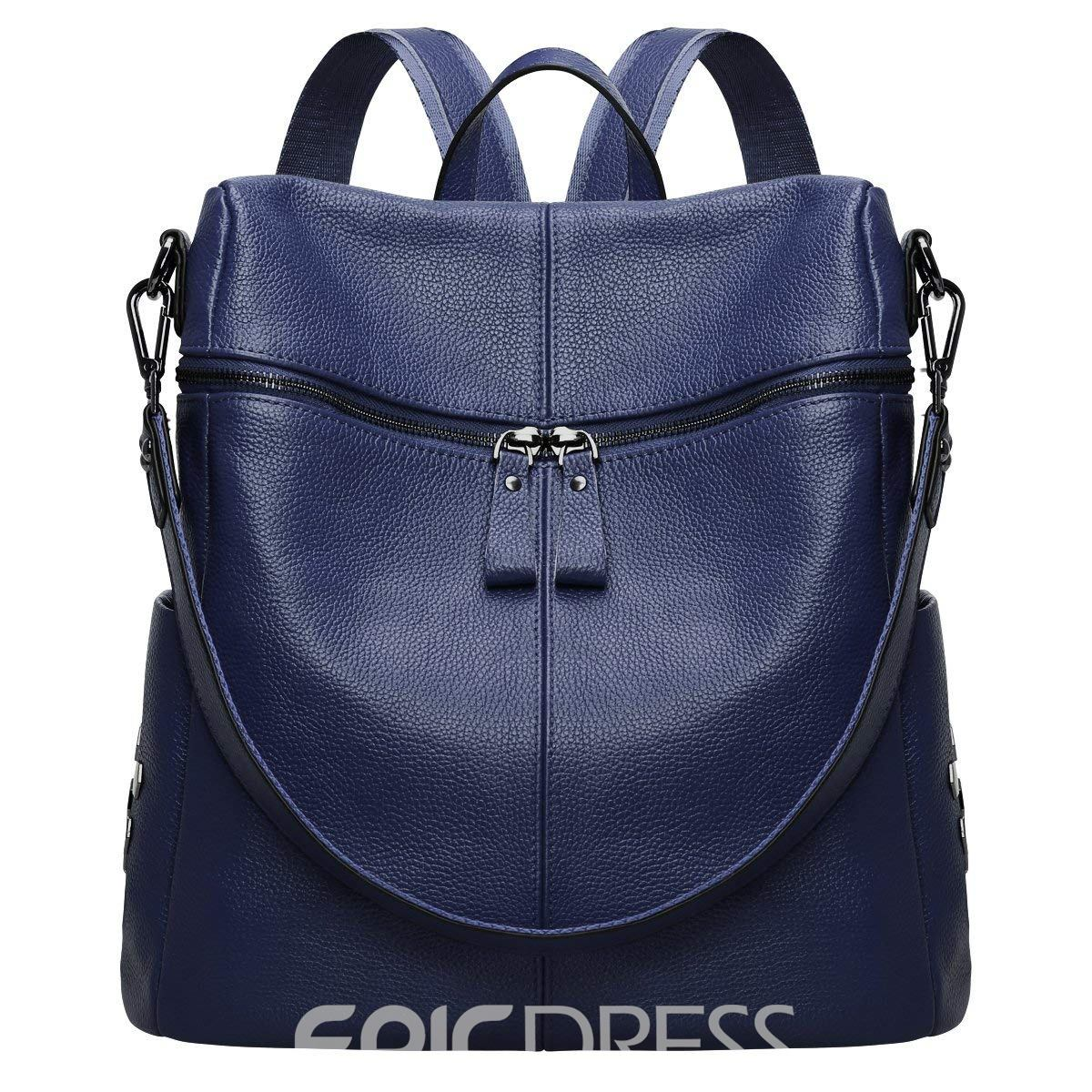 Ericdress Plain Rivet Zipper Women Backpack
