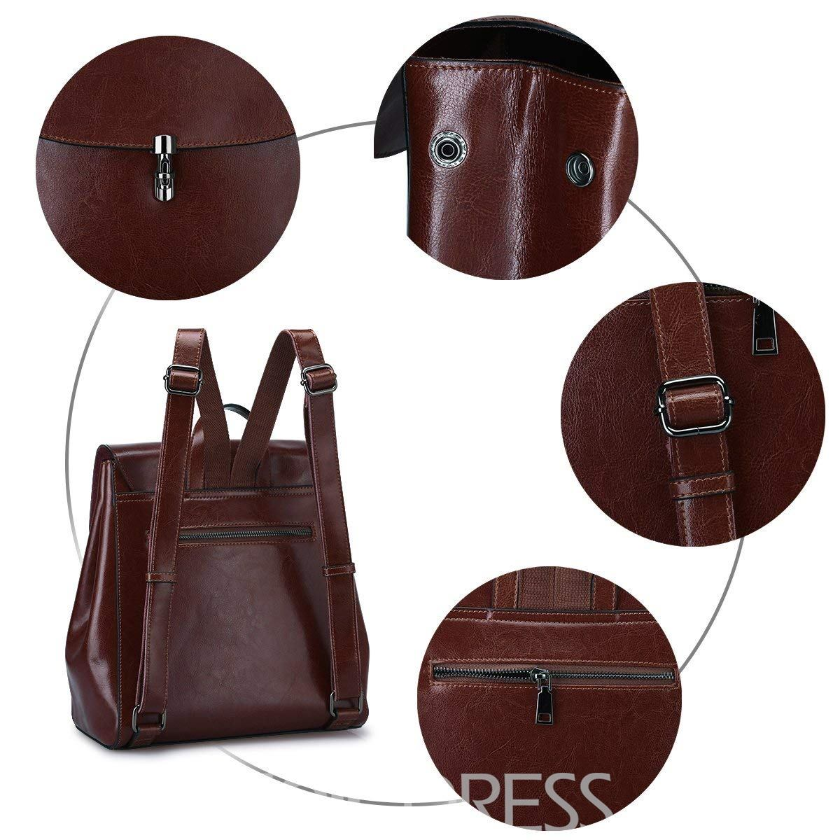Ericdress Casual Plain Interior Zipper Pocket Women Backpack