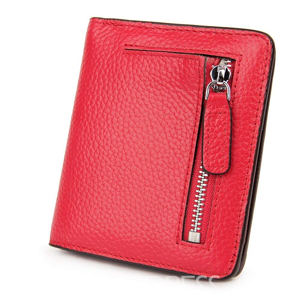 Ericdress Plain Embossing Women Short Wallet