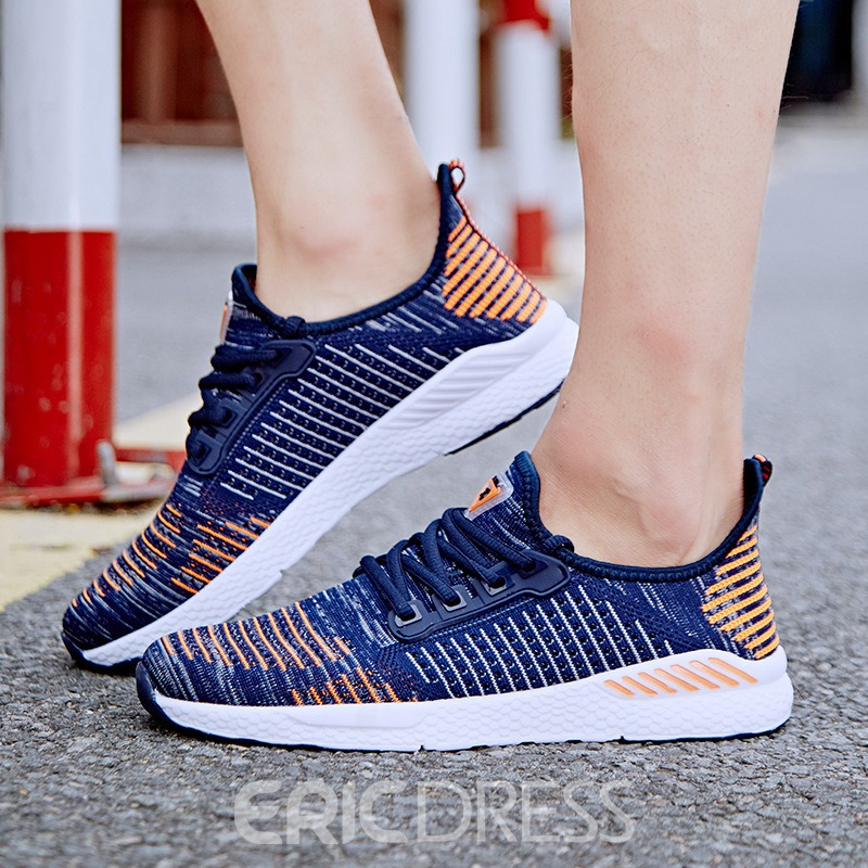 Ericdress Fashion Lace-Up Round Toe Men's Trainers