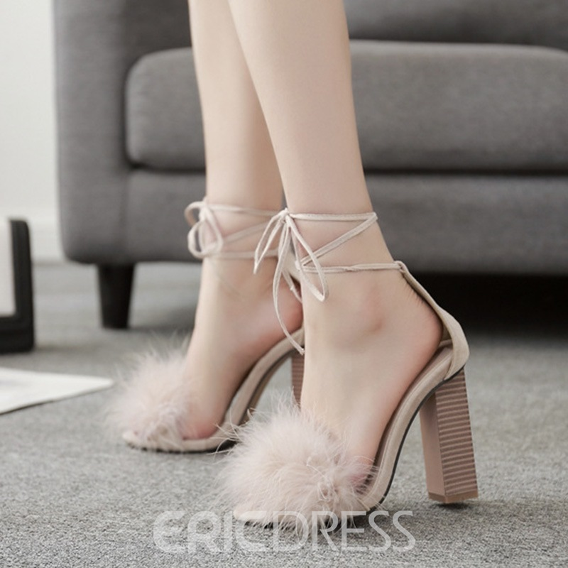 Ericdress Sexy Lace-Up Chunky Sandals