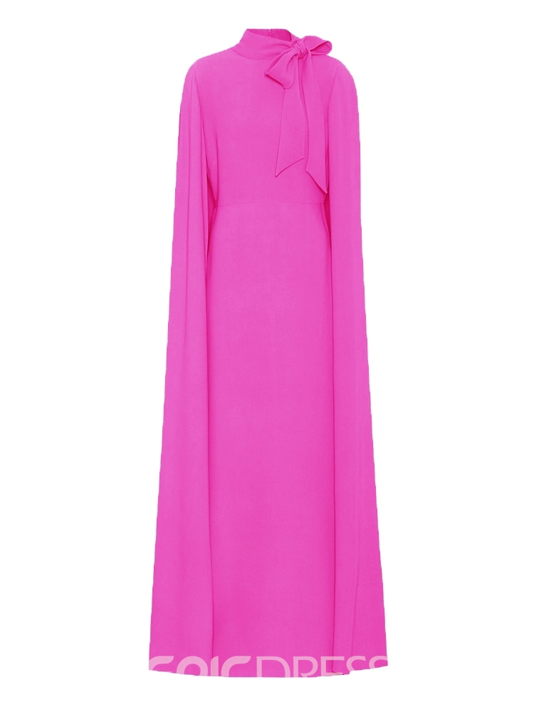 Ericdress Rose Bow Collar Pullover Elegant Maxi Dress