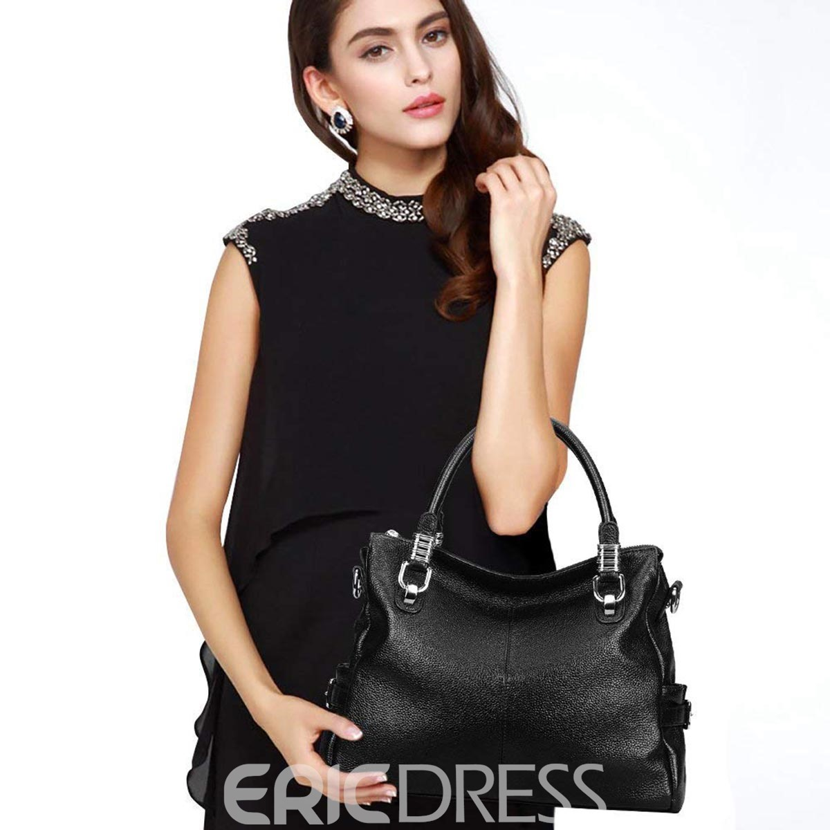 Ericdress Fashion Leather Belt Decorated Handbag