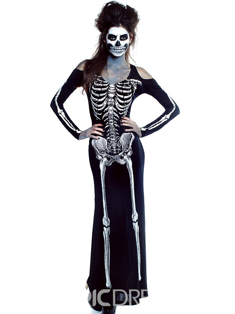 Ericdress Scary Skull Zombie Halloween Costume