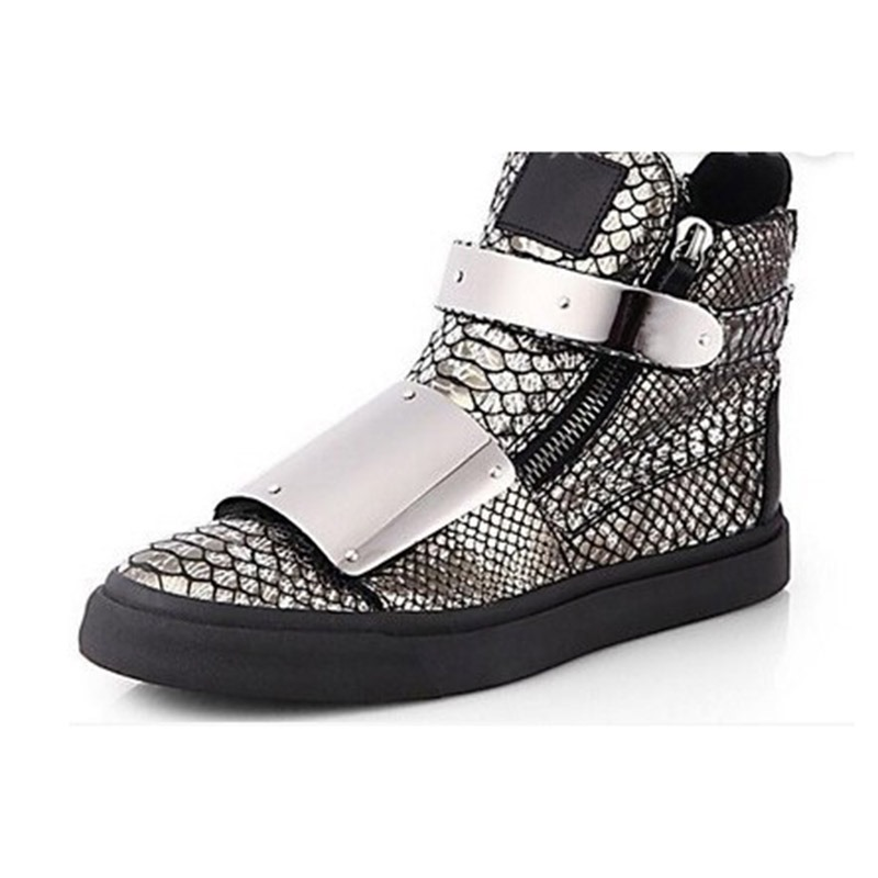 Ericdress Fashion Sequin Zipper High-Cut Men's Trainers