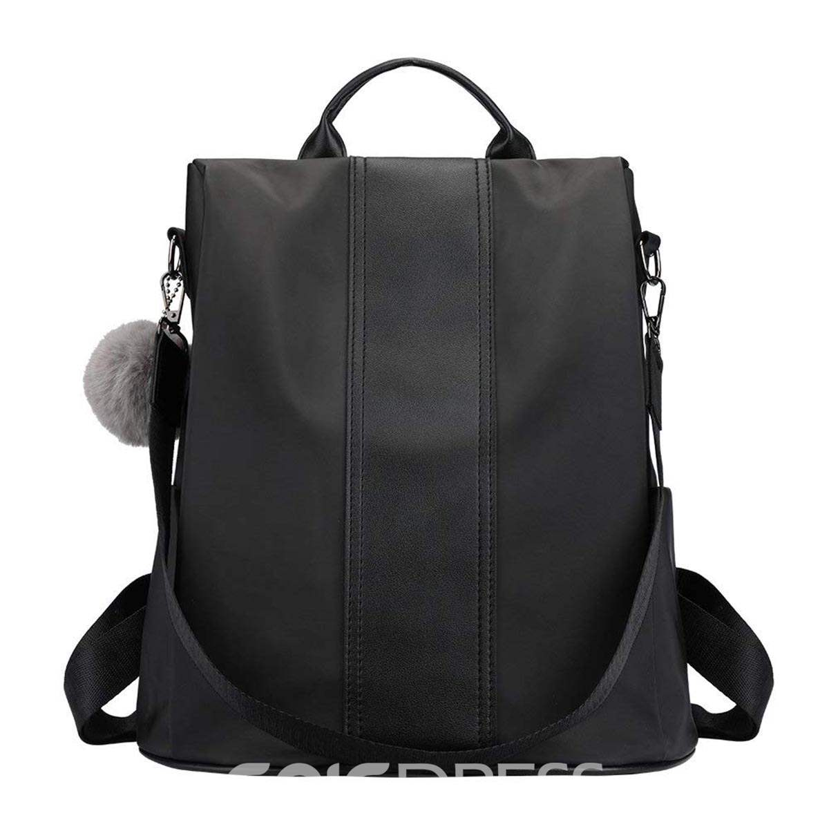 Ericdress Color Block Interior Zipper Pocket Soft Backpack