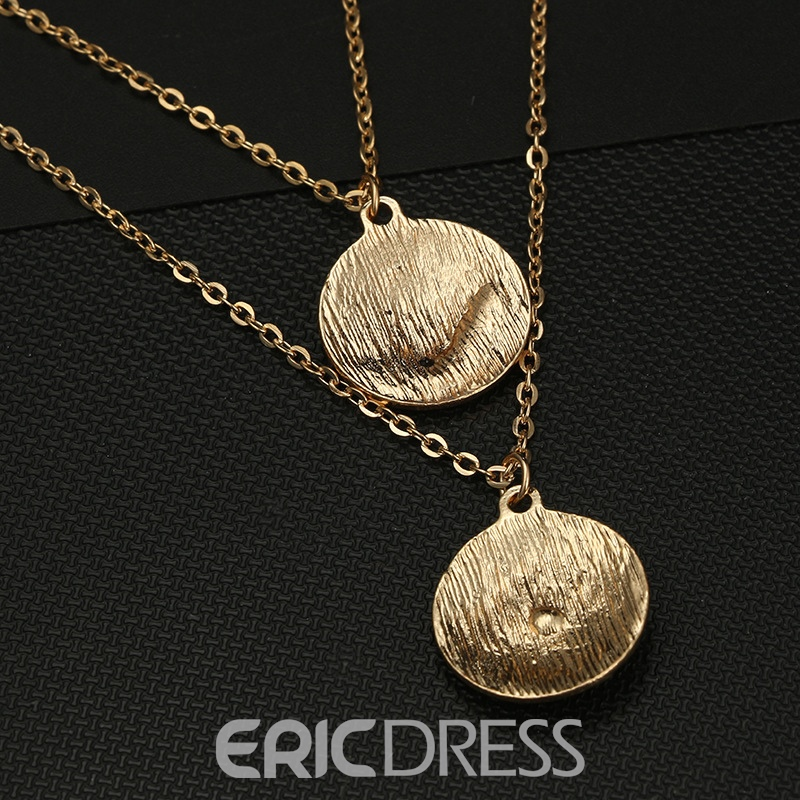 Ericdress Ethnic Style Star Diamante Charm Golden Layered Necklace