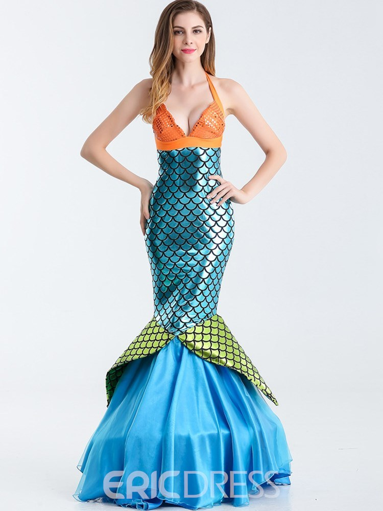 Ericdress Animal Themed Halter Skinny Mermaid Costume