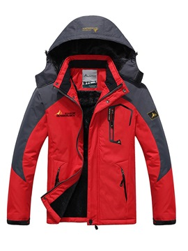 Ericdress Color Block Thick Zipper Mens Casual Down Jacket