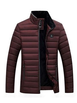 Ericdress Stand Collar Plain Slim Thick Mens Winter Quilted Coats