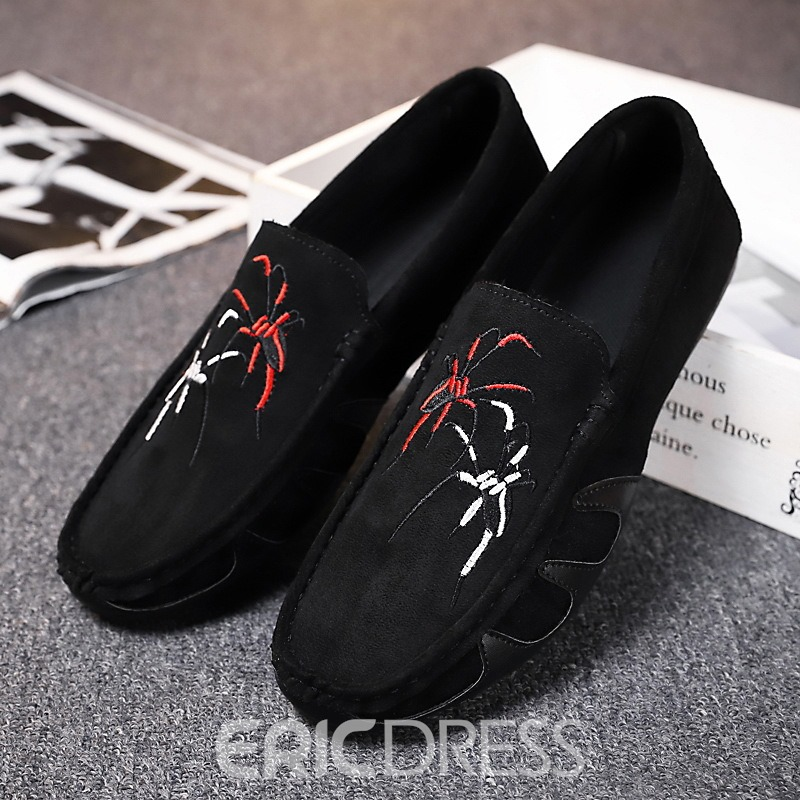 Ericdress Suede Round Toe Slip-On Men's Loafers