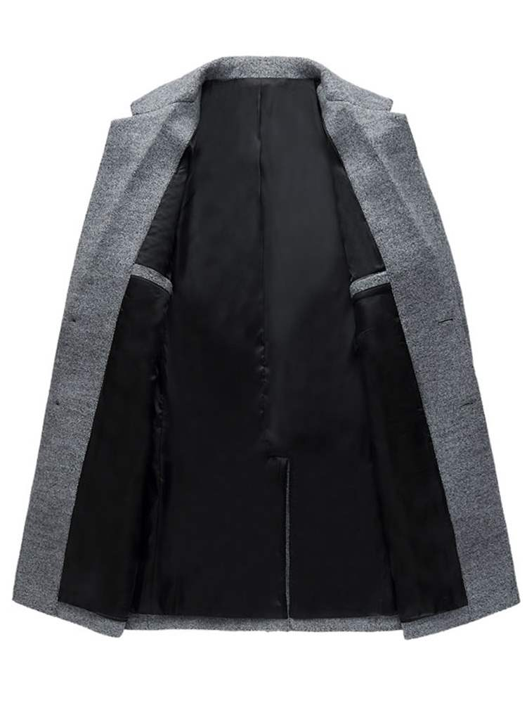 Ericdress Standing collar Patchwork European Button Men's Coats