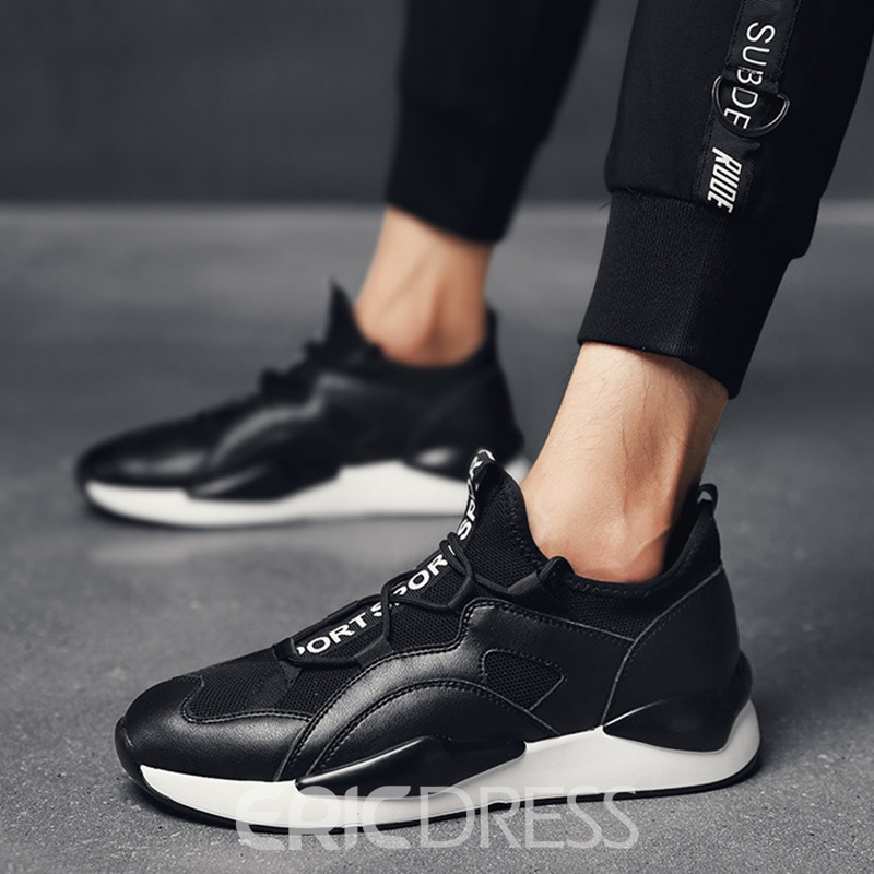 Ericdress Mesh Round Toe Color Block Lace-Up Men's Sneakers