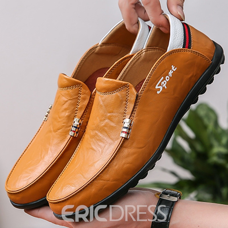 Ericdress Plain Round Toe Slip-On Men's Casual Shoes
