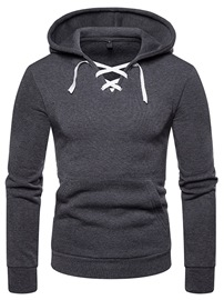 ericdress hoodies occasionnels mens à lacets