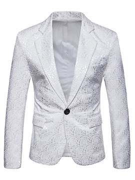 Ericdress Printed Plain One Button Mens Casual Ball Blazer