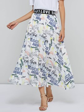 Ericdress Expansion Letter Ankle-Length Western Skirt