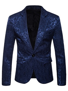 Ericdress Printed Plain Notched Lapel Mens One Button Ball Blazer