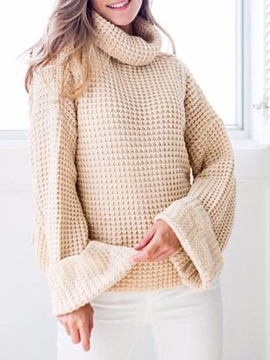 Ericdress High Neck Pullover Thick Plain Knitwear
