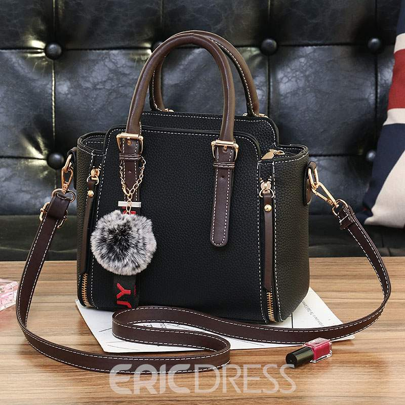 Ericdress Casual PU Thread Barrel-Shaped Tote Bags