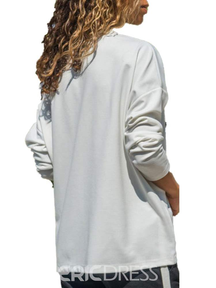 Ericdress Loose Scoop Mid-Length Long Sleeve T-shirt