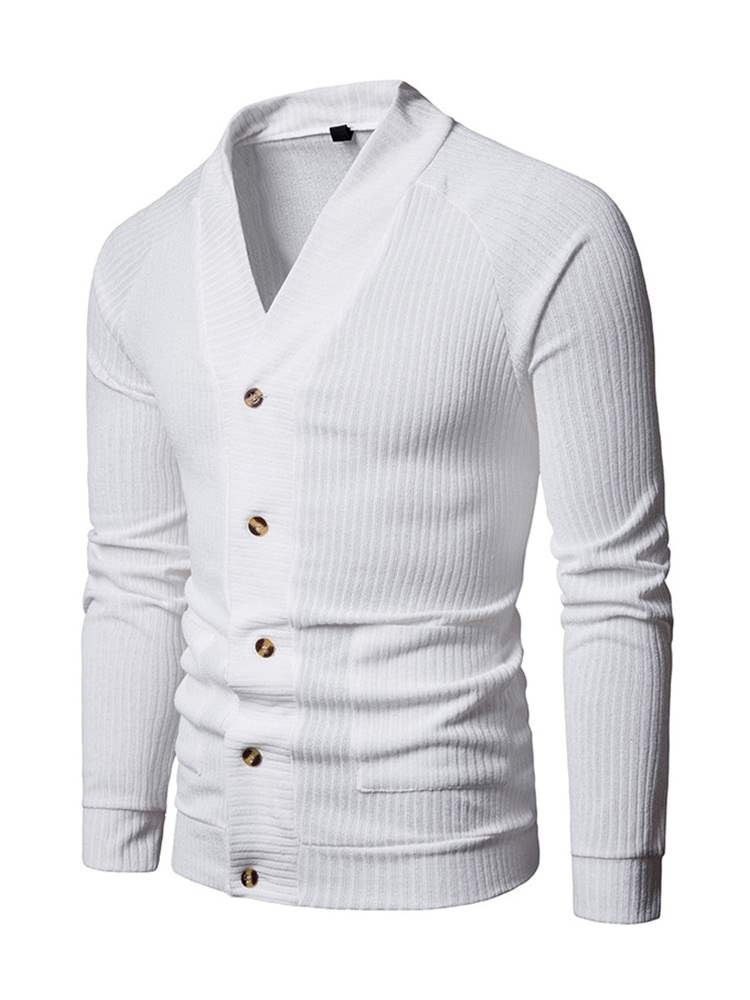 Ericdress Plain Single Breasted Mens Casual Sweaters