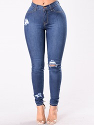 Ericdress Worn High-Waist Skinny Womens Jeans 13468281