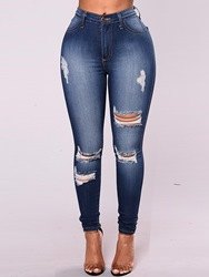 Ericdress Ripped Skinny Skinny Womens Jeans thumbnail