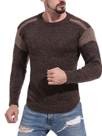 Ericdress Patchwork Color Block Mens Casual Pullover Sweaters