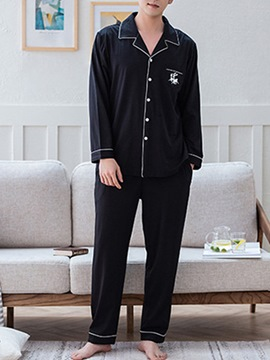 Ericdress Animal Single-Breasted Thin Men's Pajama Set