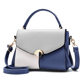 Ericdress PU Thread Flap Color Block Tote Bags