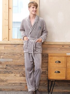 Ericdress Long Sleeve Patchwork Robe Fall Pajamas Sets