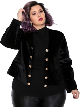 Ericdress Double-Breasted Long Sleeve Plain Women's Blazer