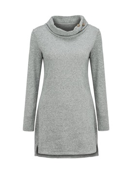 Ericdress Casual Plain Button Mid-Length Cool Hoodie