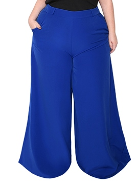 Ericdress Loose Pocket Plain Full Length Wide Legs Casual Pants