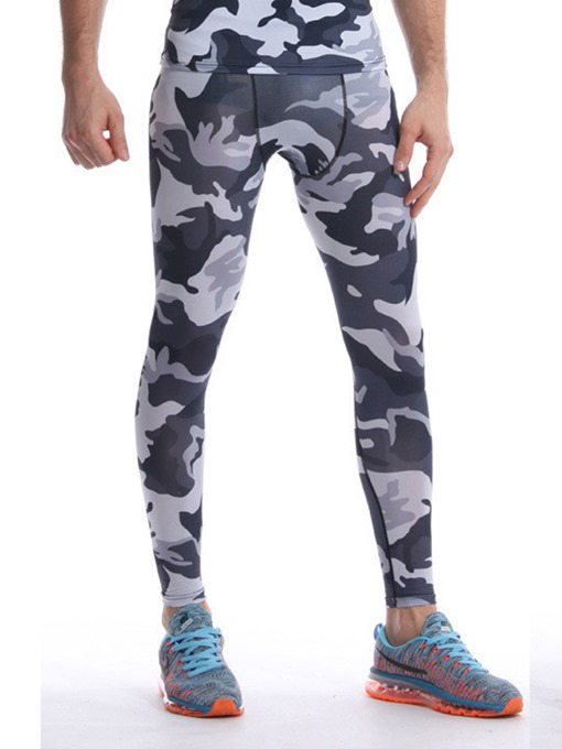 Ericdress Men Camouflage Breathable Print Ankle Length Sport Pants