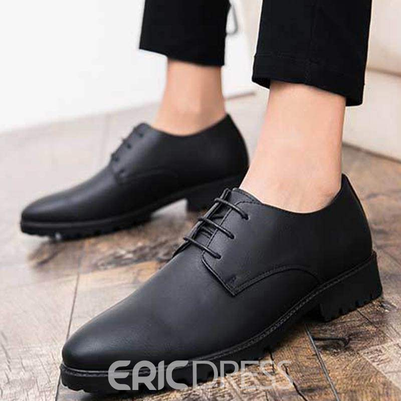 Ericdress PU Round Toe Lace-Up Men's Oxfords