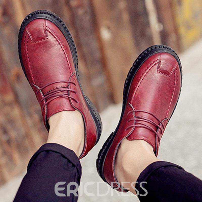 Ericdress PU Round Toe Low-Cut Upper Men's Casual Shoes