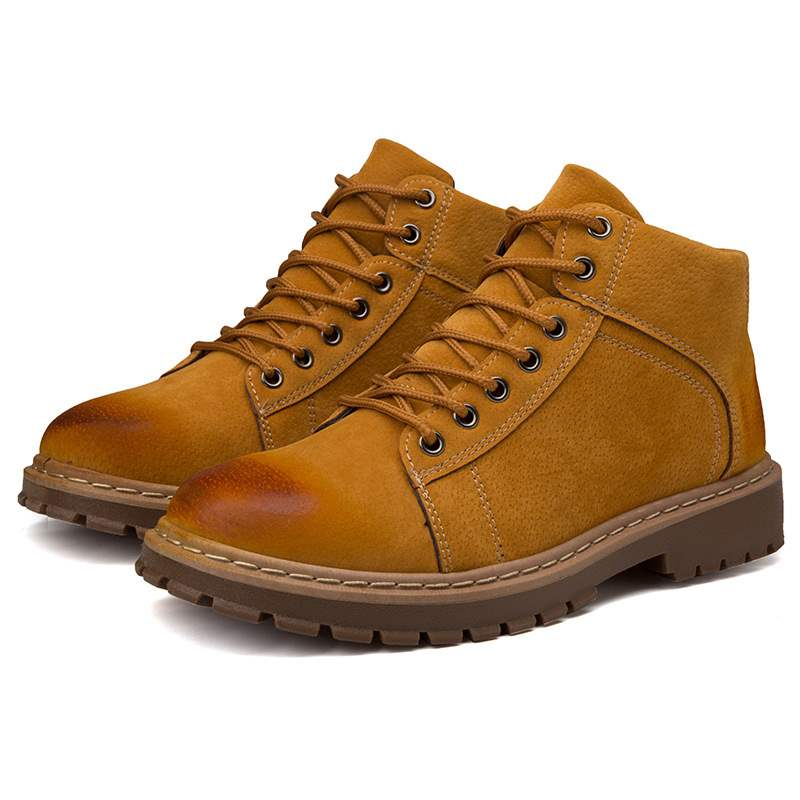 Ericdress PU Round Toe Lace-Up Men's Work Boots