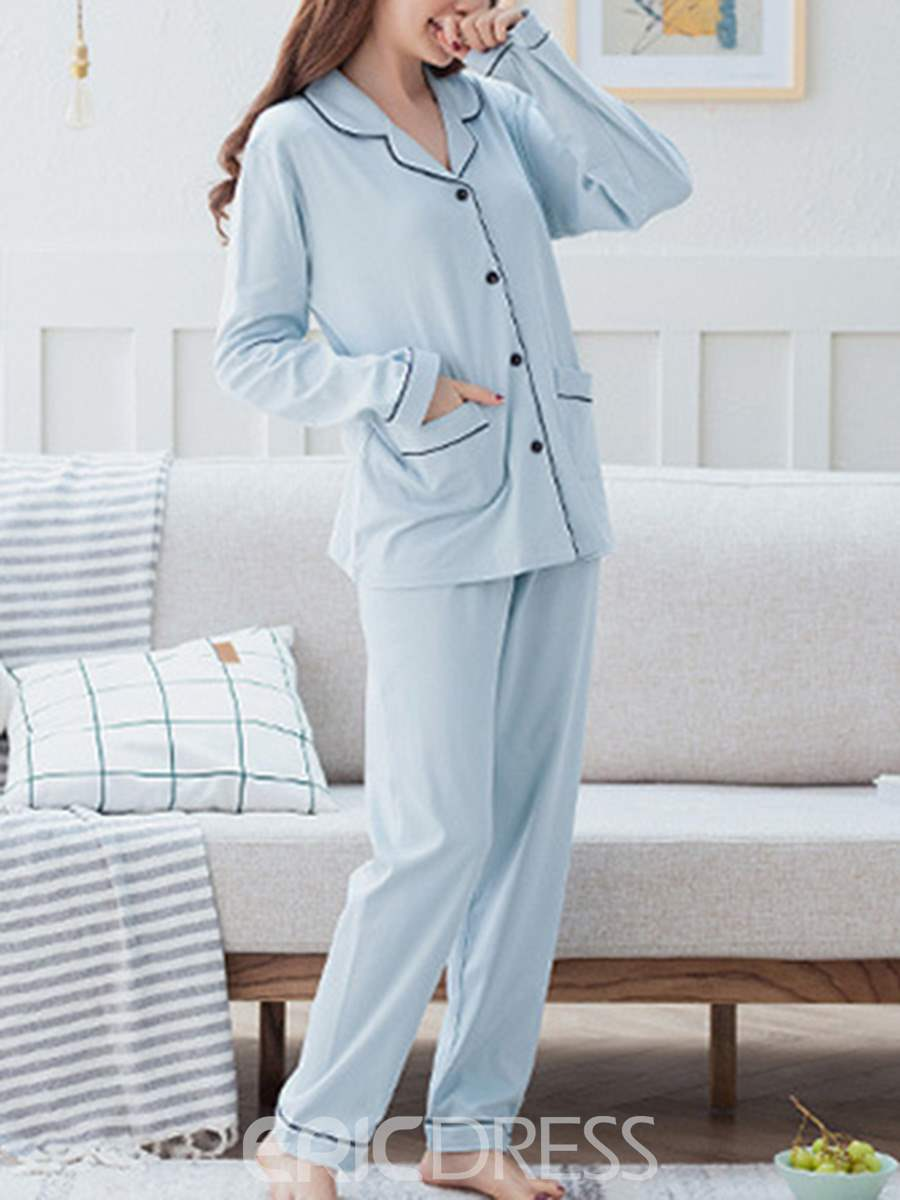 Ensemble de pyjama ericdress poche simple femmes