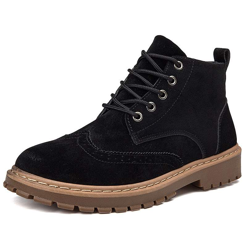 Ericdress Round Toe Lace-Up Front Men's Work Boots