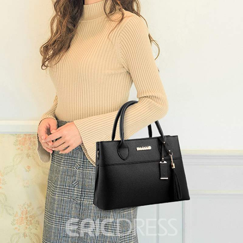 Ericdress PU Belt-Decorated Square Tote Bags