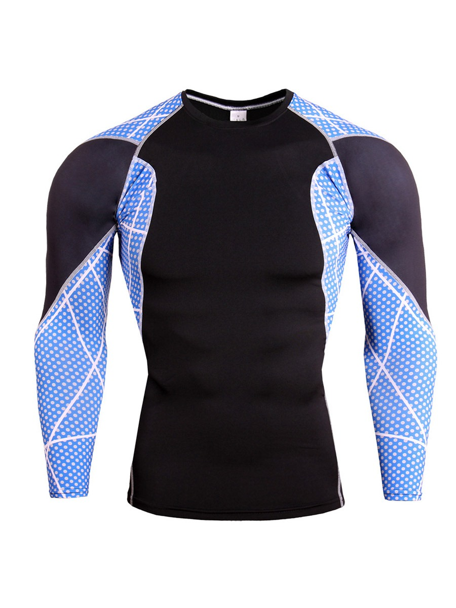 Ericdress Men Patchwork Anti-Sweat Cotton Blends Pullover Sport Tops