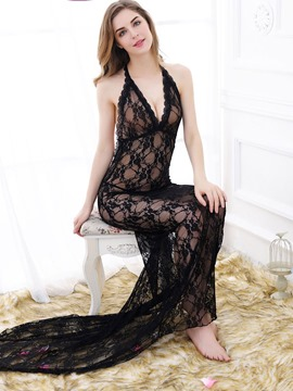 Ericdress Floor-Length Halter Backless V-Neck Sexy Lingerie
