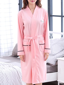 Ericdress Plain Pocket Simple Women's Night Robe